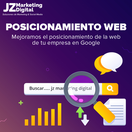 posicionamiento web SEO SEM agencia de marketing digital jz marketing digital diseño web 2